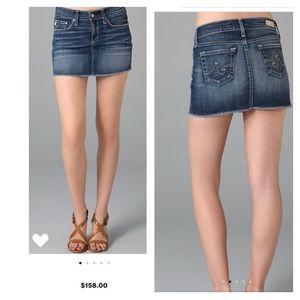 Awesome AG Denim Jean mini skirt Sz 31 NWT